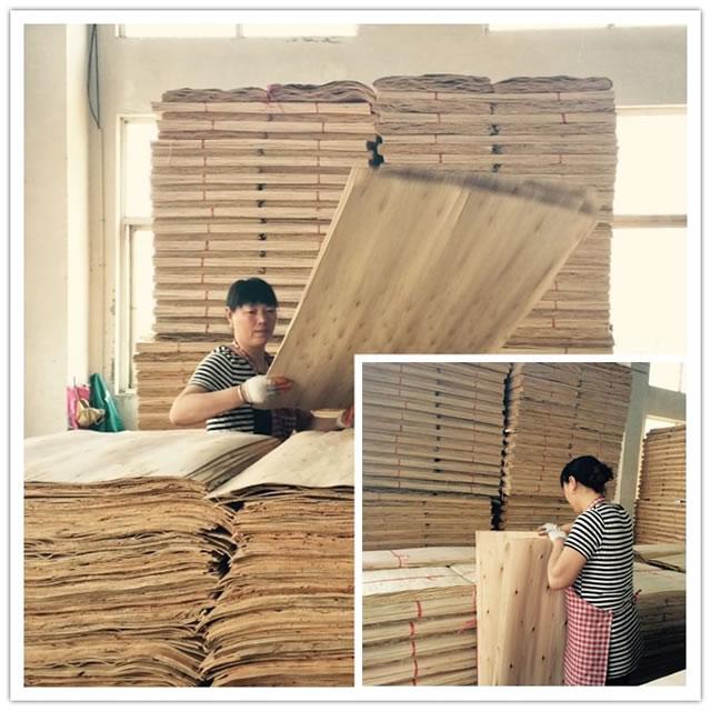 福慶E0級生態板材制造史:桉木單板挑選
