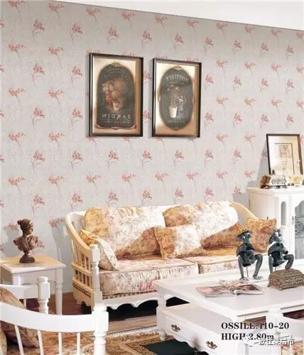 欧仕莱墙布:田园风格墙布 打造室内花园