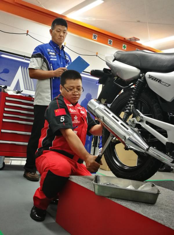 中国大陆赛区冠军钟顺海迎战雅马哈第七届世界技师大奖赛